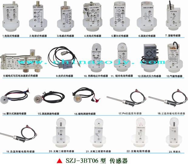 """SZJ-3BT06型 检测与转换(传感器)技术实验台(配32种传感器) 一、概述: """"SZJ-3BT06型检测与转换(传感器)技术实验台""""是本公司最新推出为传感器及教学实验而开发的适应不同类别、不同层次的专业教学实验设备。可完成""""传感器原理与应用""""、""""自动检测技术""""、""""工业自动化仪表与控制""""、""""非电量电测技术""""、""""传感器与测控技术""""等课程的教学实验与职业技能实训。"""